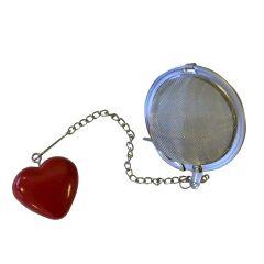 Teball med rødt hjerte